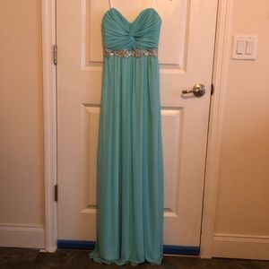 Aqua bridesmaid dress
